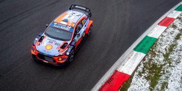 Ott Tänak ja Martin Järveoja Monza rallil 2020 Foto: Hyundai Motorsport