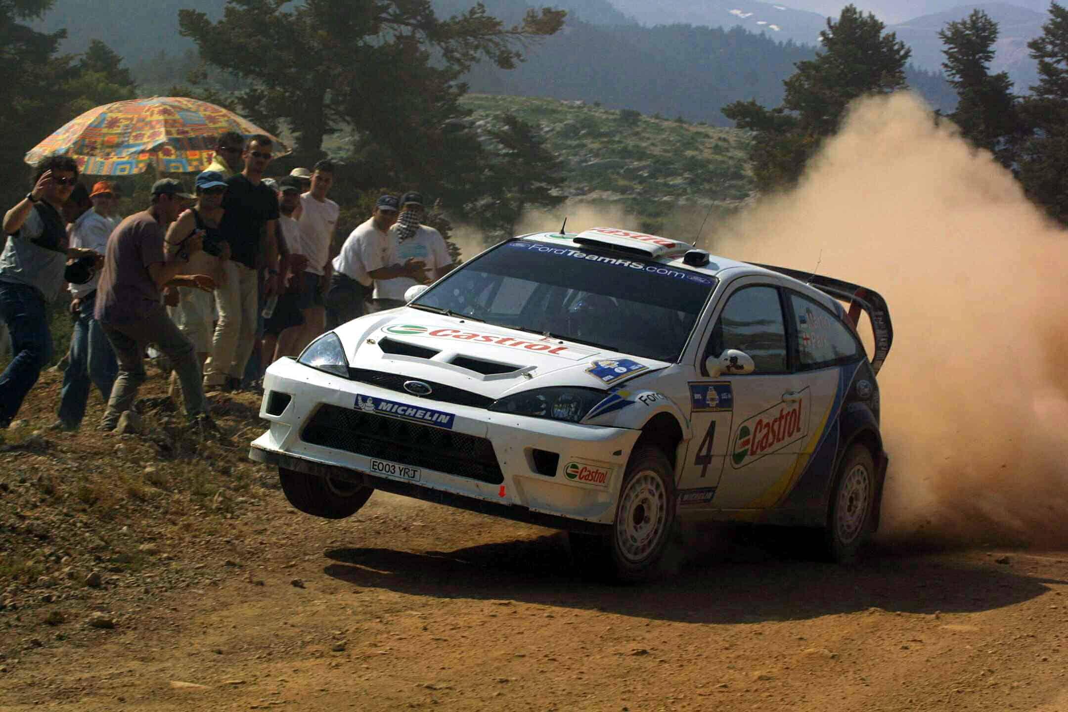 Markko Märtin (kaardilugeja Michael Park) võitis 2003. aastal esimese eestlasena Ford Focus RS WRC03-ga MM-ralli.